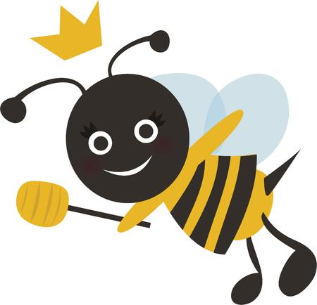 stick bug: Sweet as nectar! This Bumble Bee design will look adorable on a baby shirt or napkin.