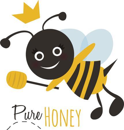 Zoet als nectar! Dit ontwerp Bumble Bee zal schattig uitzien op een baby shirt of servet.