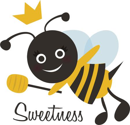nectar: Sweet as nectar! This Bumble Bee design will look adorable on a baby shirt or napkin.