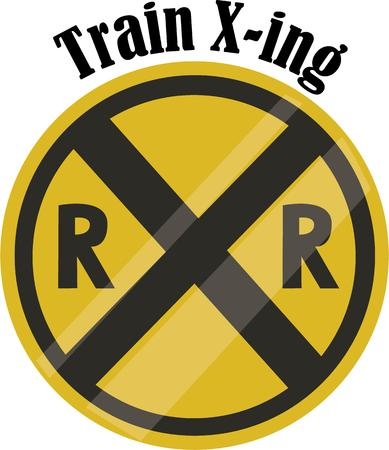 Use this cross roads design for a fun gift to your favourite traffic cop or warden.