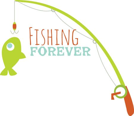angling: Love fishing Then show off your angling skills with this design on your fishing gear or clothing.