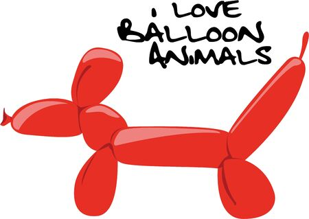 doggy: Use this Balloon Doggy design to embellish your childs outfit  make it a perfect birthday gift. Illustration