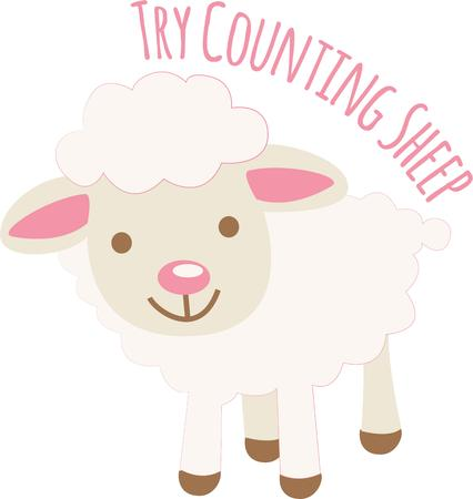 Use this Cute Lamb design to embellish your childs outfit or school backpack  make it a perfect birthday gift.