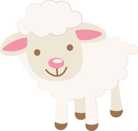「このかわいい子羊設計を使用してあなたの子供の服を飾るまたは学校のバックパックは、完璧な誕生日プレゼント」