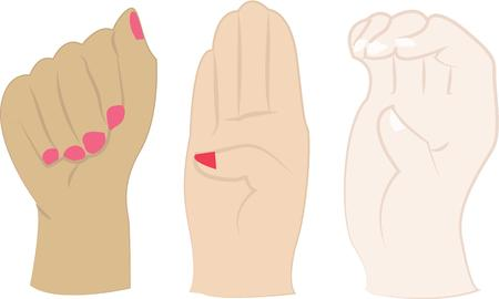 gestures: Use these hand gestures instead of talking.