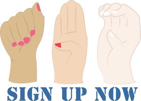 제스처: Use these hand gestures instead of talking.