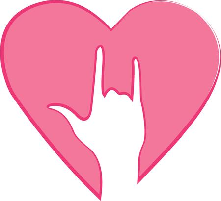 Show someone this love sign to tell how much you love them.