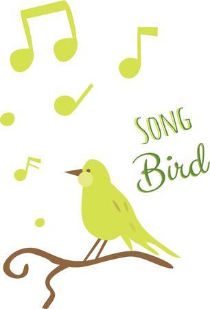 Beginnen Sie jeden Morgen mit diesen Vögeln melodie Standard-Bild - 42587436