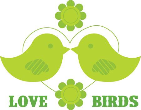 loved: Without Love, we are birds with broken wings. So, always love like birds and share with your loved ones. Illustration