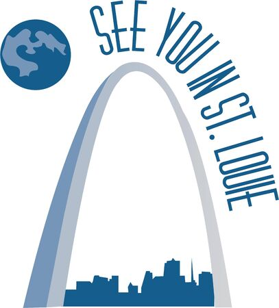 st  louis arch: The Arch is beautiful to see and fun to go up in for a view of the city Illustration