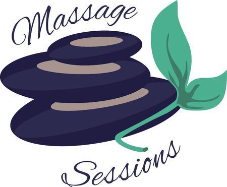 massage therapie: Ontlast uw depressie en mentaal sterk met de regelmatige massage therapie ontworpen door Borduurpatronen. Stock Illustratie