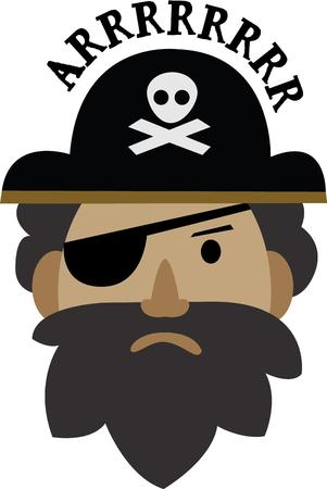 Admire pirates Then this design would just be right to be embossed on your clothing  accessories.