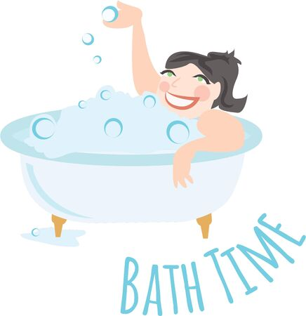 This Bubble Bath design will be perfect to be embossed on your bath towels  suits.