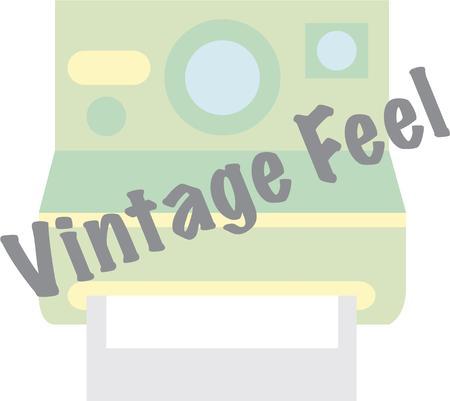 adorn: Los amantes de la buena vieja Polaroid, consiga este dise�o para adornar su bolsa de la c�mara de transporte o la ropa personal.