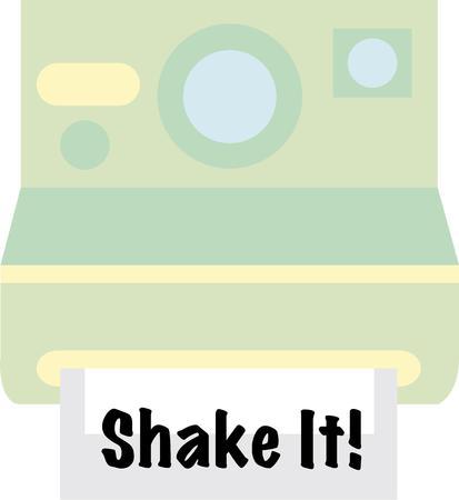 polaroid: Les amateurs de la bonne vieille Polaroid, obtenir cette conception pour d�corer votre sac appareil de transport ou aux v�tements personnels.