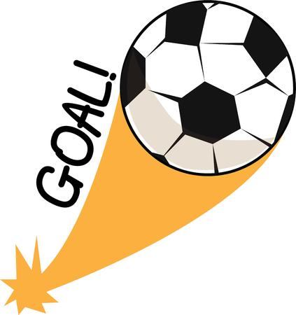 soccer goal: kicking a ball with the foot to score a goal.