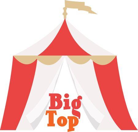 Het leven is een Circus. Geniet van de show. Stock Illustratie