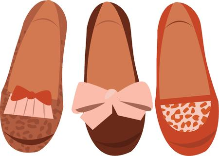 loafer: Step out in style with this design by Embroidery patterns. Illustration