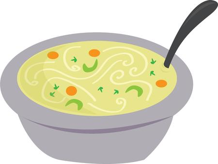 entrees: Treat yourself and your friends with a cup of tasty and healthy Soup. Illustration