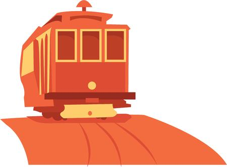 caboose: enjoy the  traveling all aboard with this design by embroidery patterns Illustration