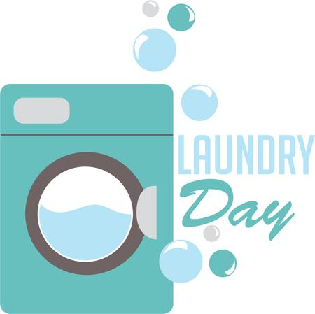 The washing machine has removed a solid from everyday life with the need to hand wash our clothes and towels confined to the past embroidery patterns Illusztráció