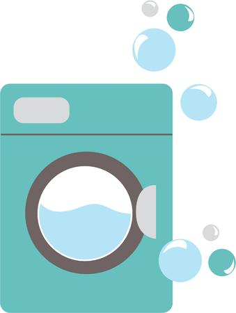 The washing machine has removed a solid from everyday life with the need to hand wash our clothes and towels confined to the past embroidery patterns Ilustrace