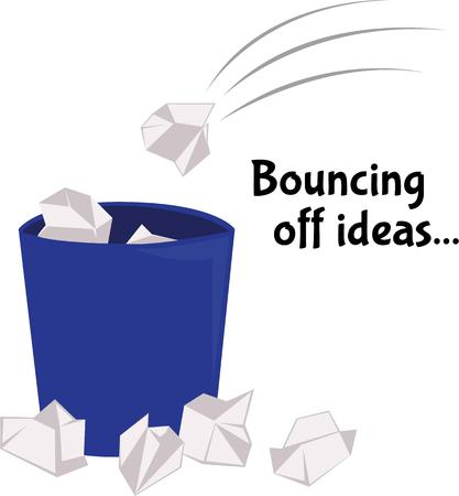 bouncing: chuck the thing straight into the wastepaper basket Illustration