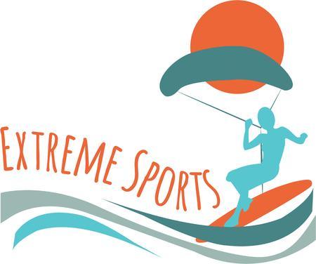 PARA-SAILING은 전국에서 가장 빠르게 성장하는 스포츠 중 하나이며 재미있게 참가할 수 있습니다. 일러스트
