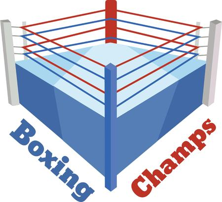 enjoy to play with this boxing arena designs by embroidery patterns. Иллюстрация