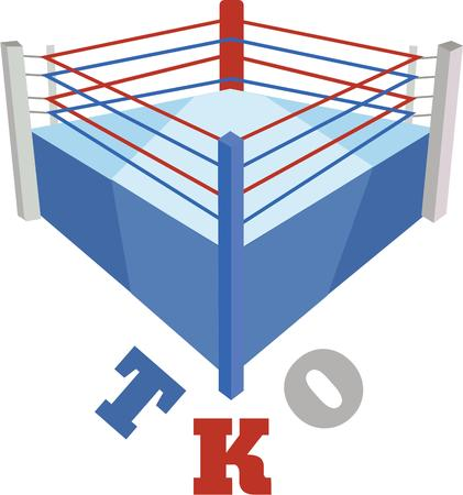 arena: enjoy to play with this boxing arena designs by embroidery patterns. Illustration