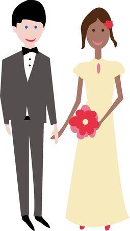 Wie Burrows Hypothese, würde das Paar die Bedeutung vermindert haben Vektorgrafik