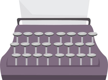 Express your words easily with this type writer designs by embroidery patterns.