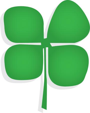 Go Green! For each petal on the Shamrock brings a wish your way Good health, good luck and happiness for today and everyday. Illustration
