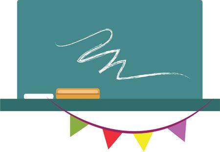 黒板コースと基本を学んでを参照してください。この目的のために設計されたツール  イラスト・ベクター素材