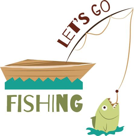 Find your angler and enjoy your fishing trips and holidays.with this design by embroidery patterns. Illustration