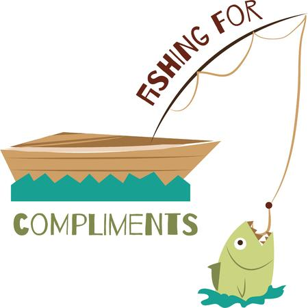 angler: Find your angler and enjoy your fishing trips and holidays.with this design by embroidery patterns. Illustration
