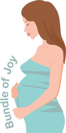 妊娠しているあなたの人生で最も幸せな時間をすることになって  イラスト・ベクター素材