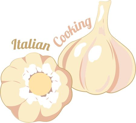 Grab all the healthy and beauty benefits from Garlic with this design by Embroidery patterns. Illustration