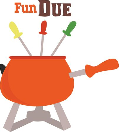 fondue: Use this design while going for picnic. Illustration