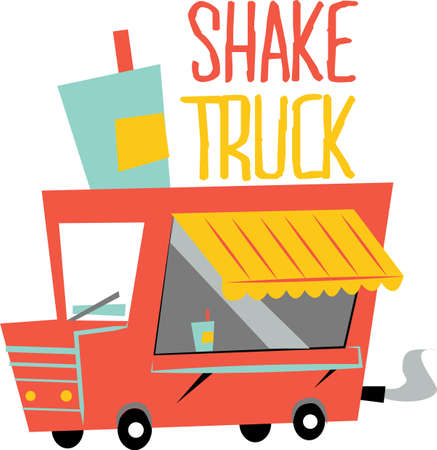 Use this food truck for transport food Stuff