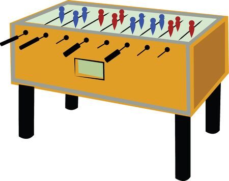 foosball: Score well with this Foosball field design. Illustration
