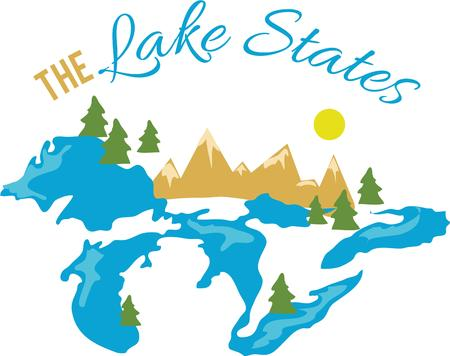 great lakes: Lake Como has always been a magnet for the elite. Illustration