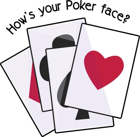 cant: Life is like a Poker game. you cant quit when you are losing  you cant quit when you are ahead also. Play for fun with this design by Embroidery patterns.