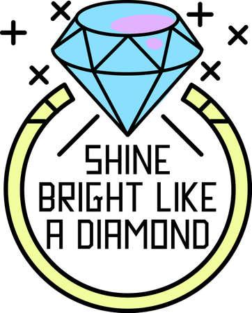 Voeg schoonheid en elegantie toe aan je creatie met deze collectie kostbare diamanten ringen. Stock Illustratie