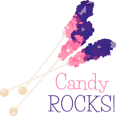 sweeten: Sweeten your next creation with these colorful rock candy designs. Illustration