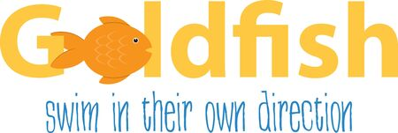 G for Goldfish! Goldfishes in Aquarium makes your home looks beautiful and pretty. Illustration