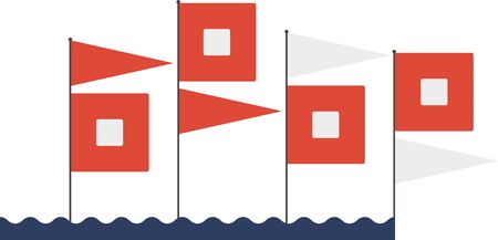 Your next creation can set sail with this collection of nautical message flags. Ilustração