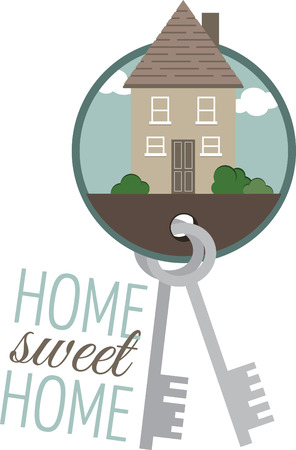 residential homes: Safeguard your sweet home with this design by Embroidery patterns.