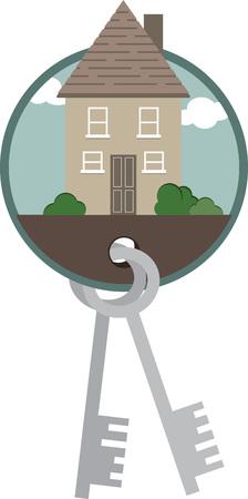 sauvegarde: Prot�gez votre sweet home avec cette conception par des motifs de broderie. Illustration