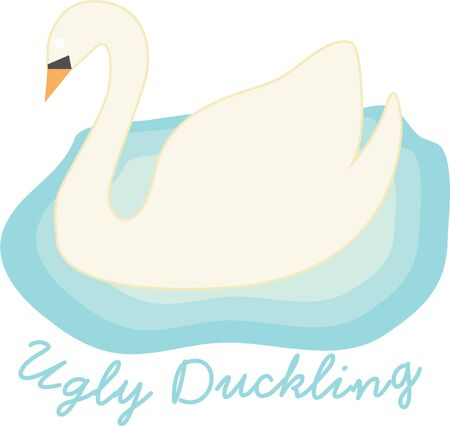 swan lake: Use this design for home decoration.